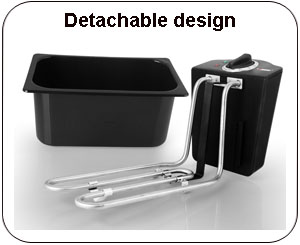 detachable deep fryer